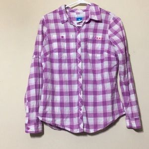 Columbia plaid button up shirt